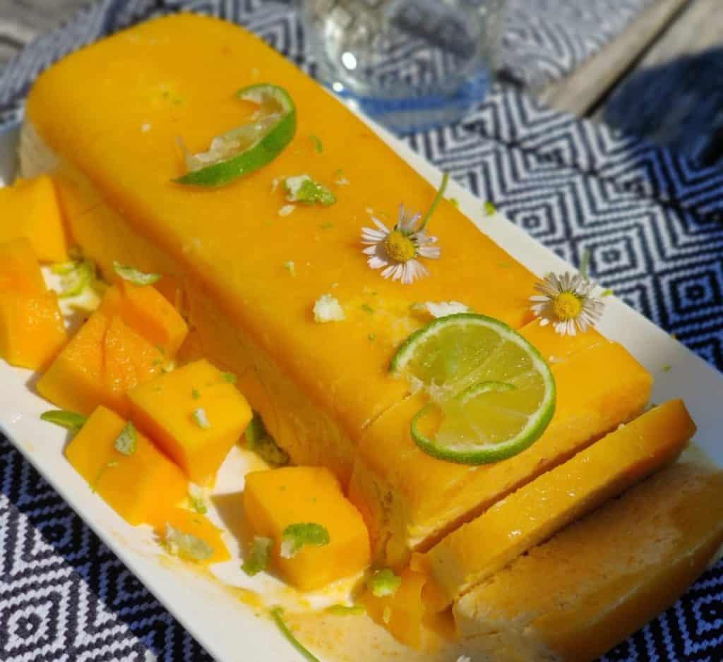 Parfait glacé citron et mangue