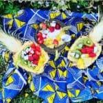 Salade de fruits frais dans ananas pour une alimentation saine