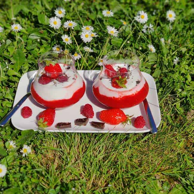 Mousseline fraise & framboise