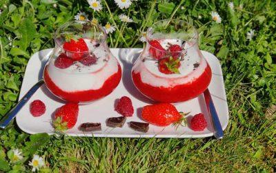 Mousseline fraises et framboises